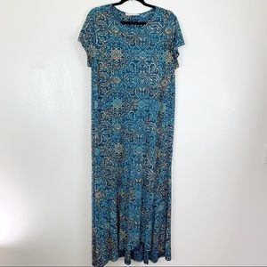 Peruvian Connection printed cotton maxi dress